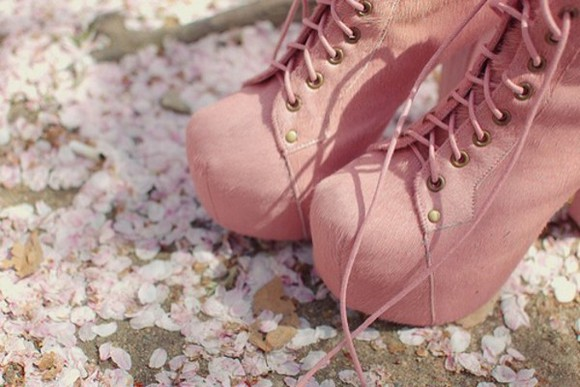 cute spring fashion pretty shoes pink fashionable suede booties adorable comfortable perfect platform