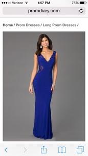 dress,prom dress,royal blue dress,lace dress,open back dresses,long dress