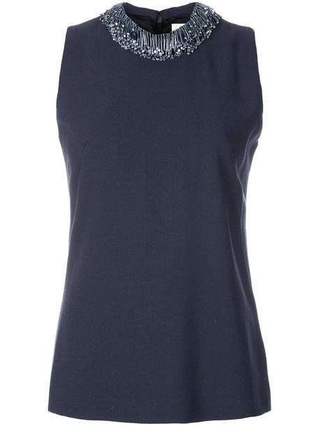 blouse women beaded wool grey top
