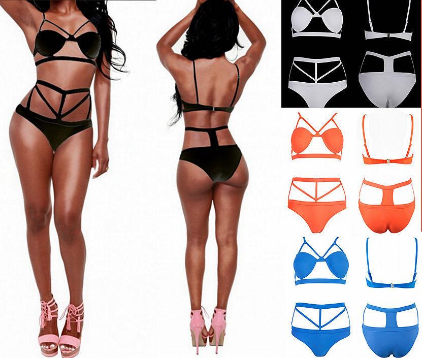 2015 summer women sexy string retro bikini swimsuit swimwear bandage beachwear