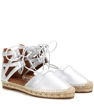 metallic sandals leather silver shoes