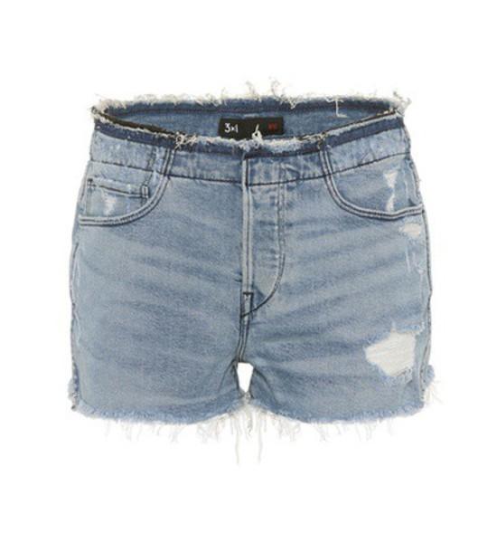 3x1 shorts denim shorts denim blue