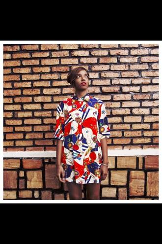 dress vintage dress tumblr clothes red dress art geometric long dress