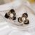 [grxjy5300220]Fashion Rhinestone Pearl Clover Stud Earrings