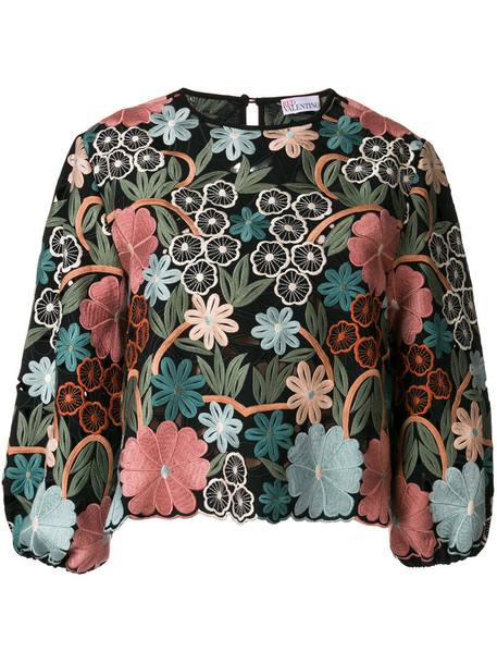 RED VALENTINO top floral top embroidered women floral