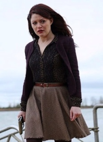 jacket blouse once upon a time belle belt skirt
