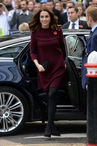 dress burgundy burgundy dress mini dress fall dress kate middleton