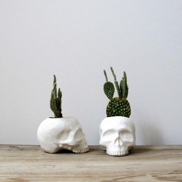 skull jewels home decor flower pot skull flower pot cactus