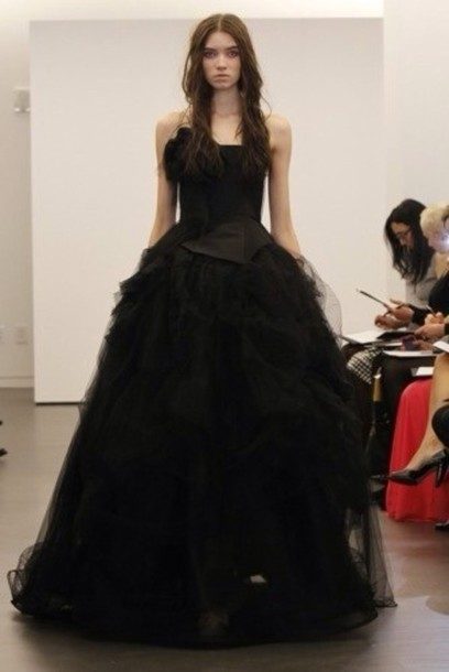 dress all black everything prom party wedding black goth goth dress gothic high-low dresses goth gothic dress goth model rock vera wang