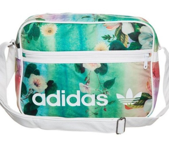 floral adidas bag messenger bag