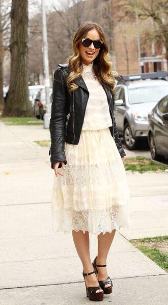 dress lace dress ruffle midi dress sandals platform sandals olivia wilde jacket spring outfits spring jacket