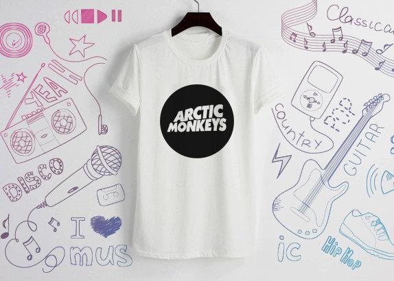 Arctic monkeys Shirts T Shirt T-Shirt FunnyTShirt Tee Shirt Unisex - White Size S M L XL