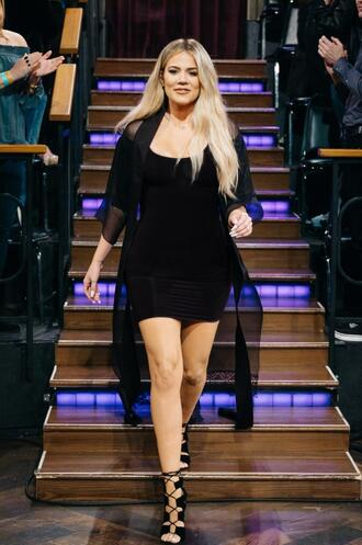 shoes sandals khloe kardashian all black everything mini dress kardashians heels