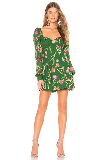 Lovers + Friends Marcella Mini Dress in green