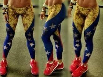 leggings wonder woman blue leggings stars leggings