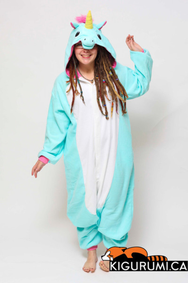 unicorn pajamas jumpsuit nightwear