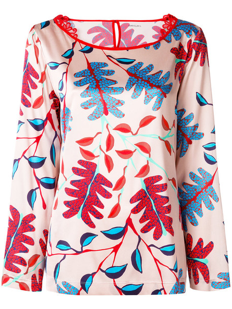 blouse printed blouse women spandex floral nude silk top