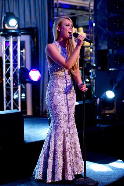 dress sequin dress sequin gown fishtail gown floor length dress racer sleeveless dress gold dress