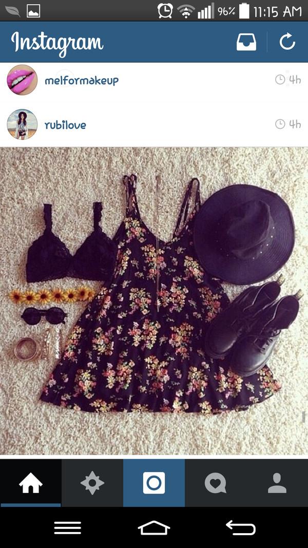 black dress black floral dress floral dress