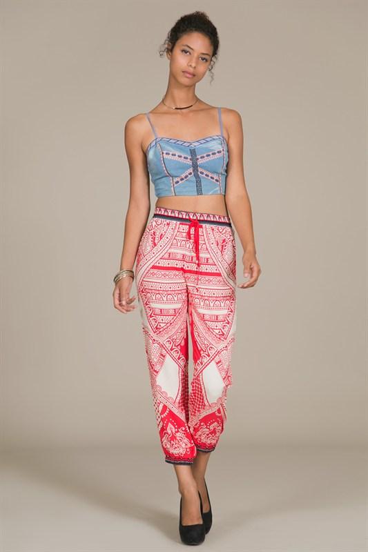 Red printed pants · trendyish · online store powered by storenvy