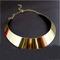 Fashion women curved mirrored metal choker collar mottled bib necklace j