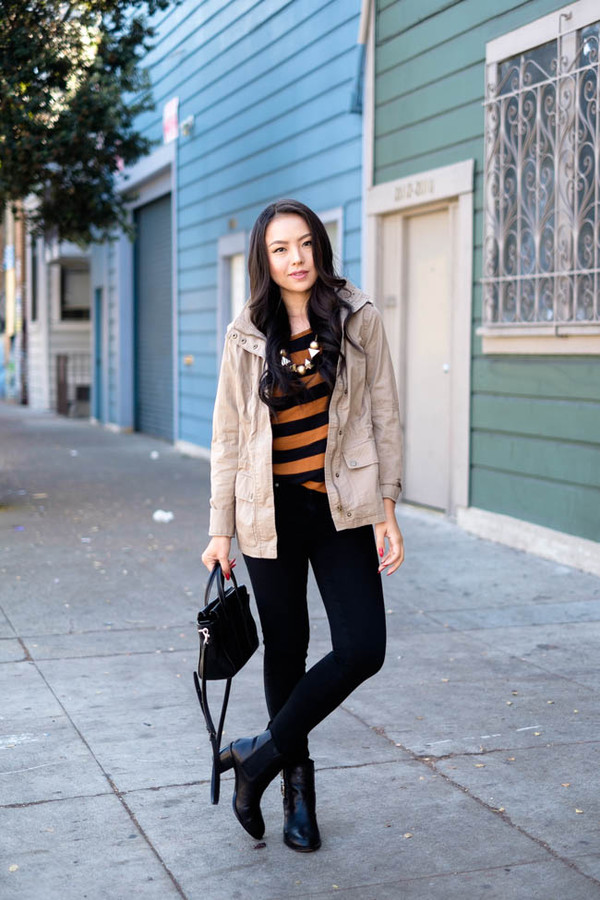 the fancy pants report blogger top jacket bag jewels jeans