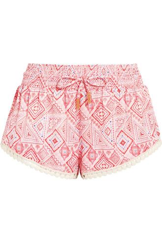 shorts silk pastel pink pastel pink