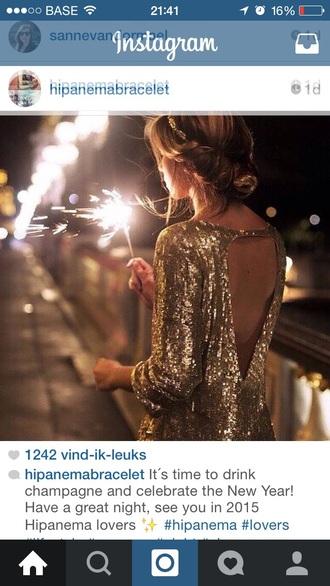 dress gold glitter sequins