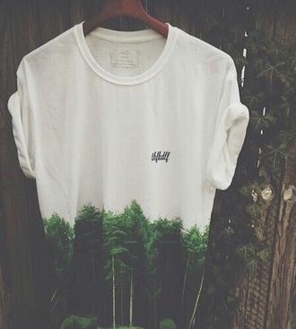 t-shirt printed t-shirt shirt mens t-shirt forest