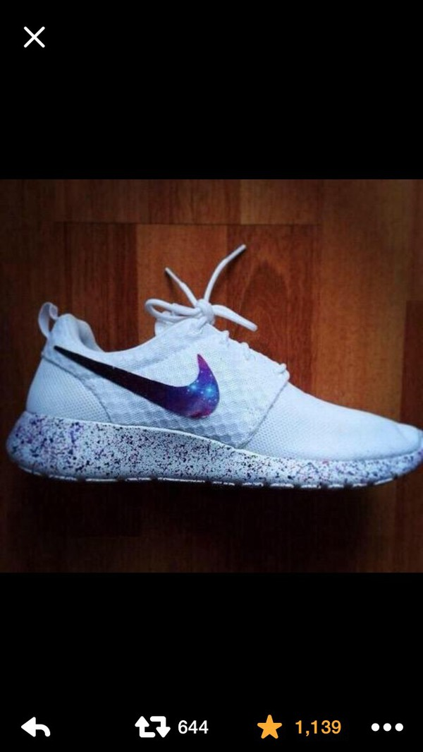 low priced 6af8c 030ac ... spain roshe galaxy custom made to order mens nike rosherun shoes hand  painted 82494 f548c