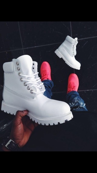 shoes white timberlands timberland boots