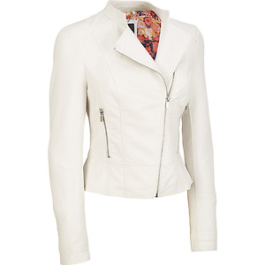 White Faux Leather Jacket | eBay