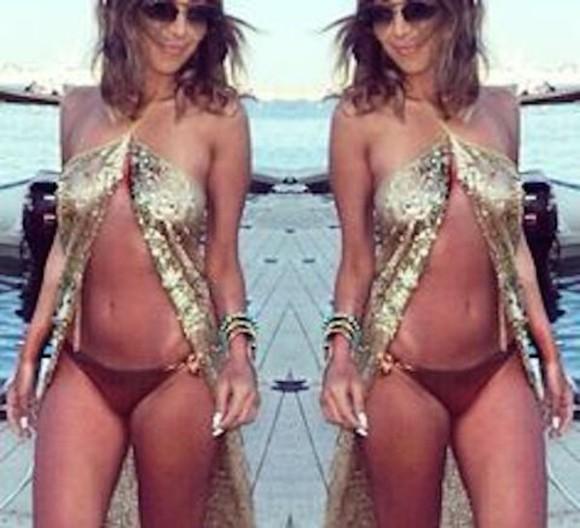 gold sequins gold sequins cover up beach dress