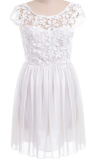 Crochet Embroidered Lace Dress