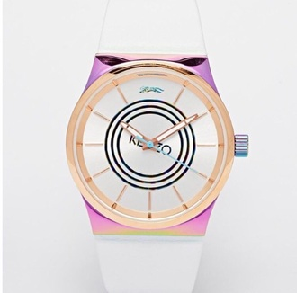 home accessory pink vintage watch kenzo watch