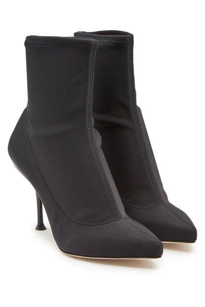 Sergio Rossi Ankle Boots with Leather  in black