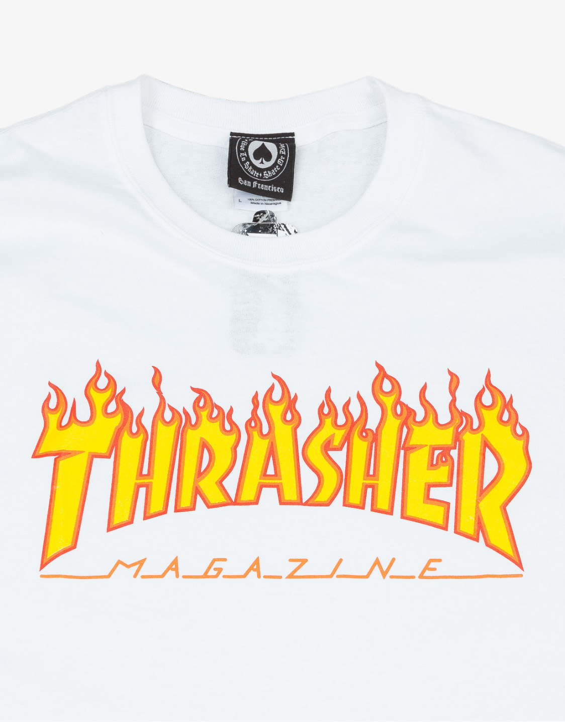 afbe1c97d2c6 Thrasher Magazine Flame t-shirt white