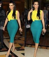 blouse,kim kardashian,skirt