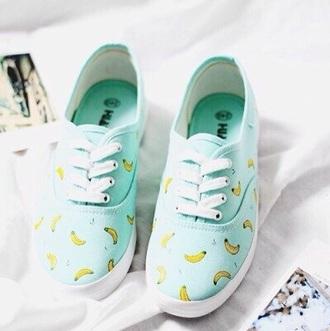 shoes turquoise banana