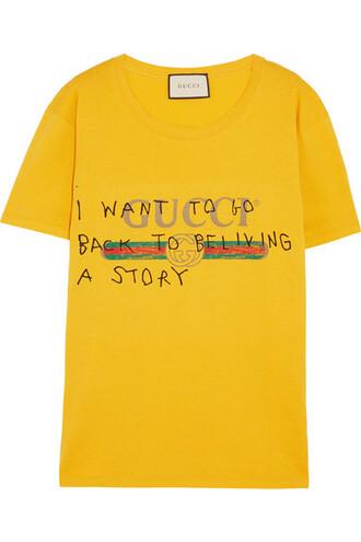 t-shirt shirt cotton yellow top
