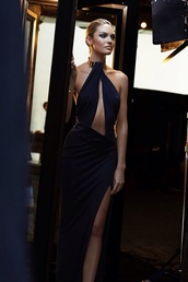 dress,black dress,long,maxi dress,elegant,glamour,black,black prom dress,candice swanepoel,perfection,fashion,elegance