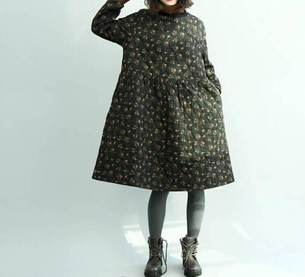 dress floral pullover dress