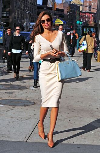 miranda kerr classy chic nude skirt summer dress model victoria's secret dress victoria beckham dress