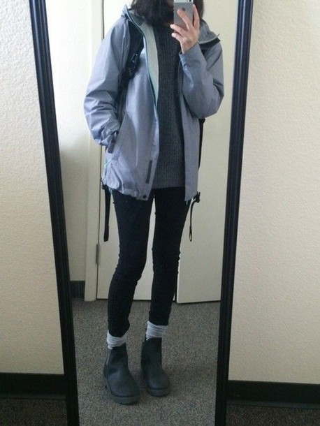 Jacket windbreaker blue jacket aesthetic aesthetic tumblr aesthetic grunge pale grunge ...