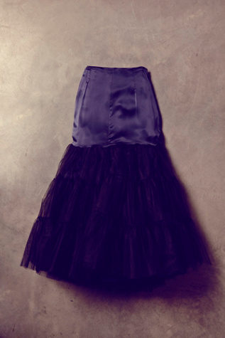 free people womens vintage black tulle skirt