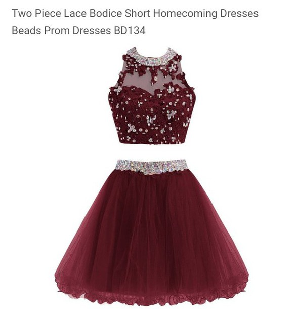 Burgundy Homecoming Dress