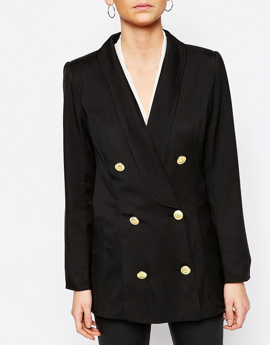 Boohoo Double Breasted Blazer at asos.com