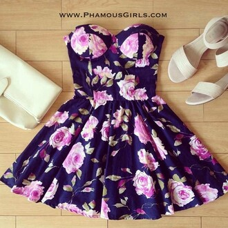 floral dress purple dress