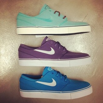 shoes nike trainers dap blue purple aqua blue