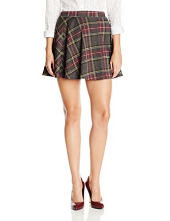 Rd style women's knit plaid skater skirt, grey, small at amazon women?s clothing store:
